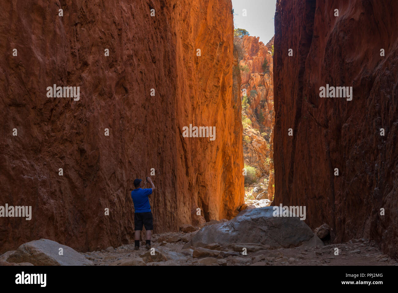 west macdonnell ranges, standley chasm, gorge, near alice springs, Nothern Territory, Australia - Stock Image
