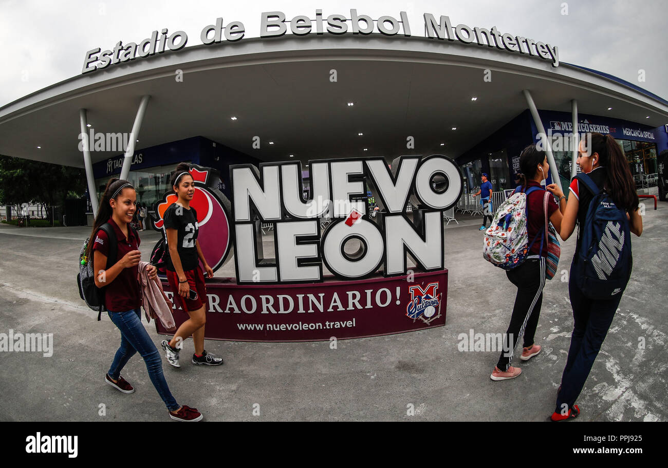 Aspects of the stadium of the Sultans of Monterrey, prior to the game of the Los Angeles Dodgers vs San Diego Padres, during the first game of the Maj - Stock Image