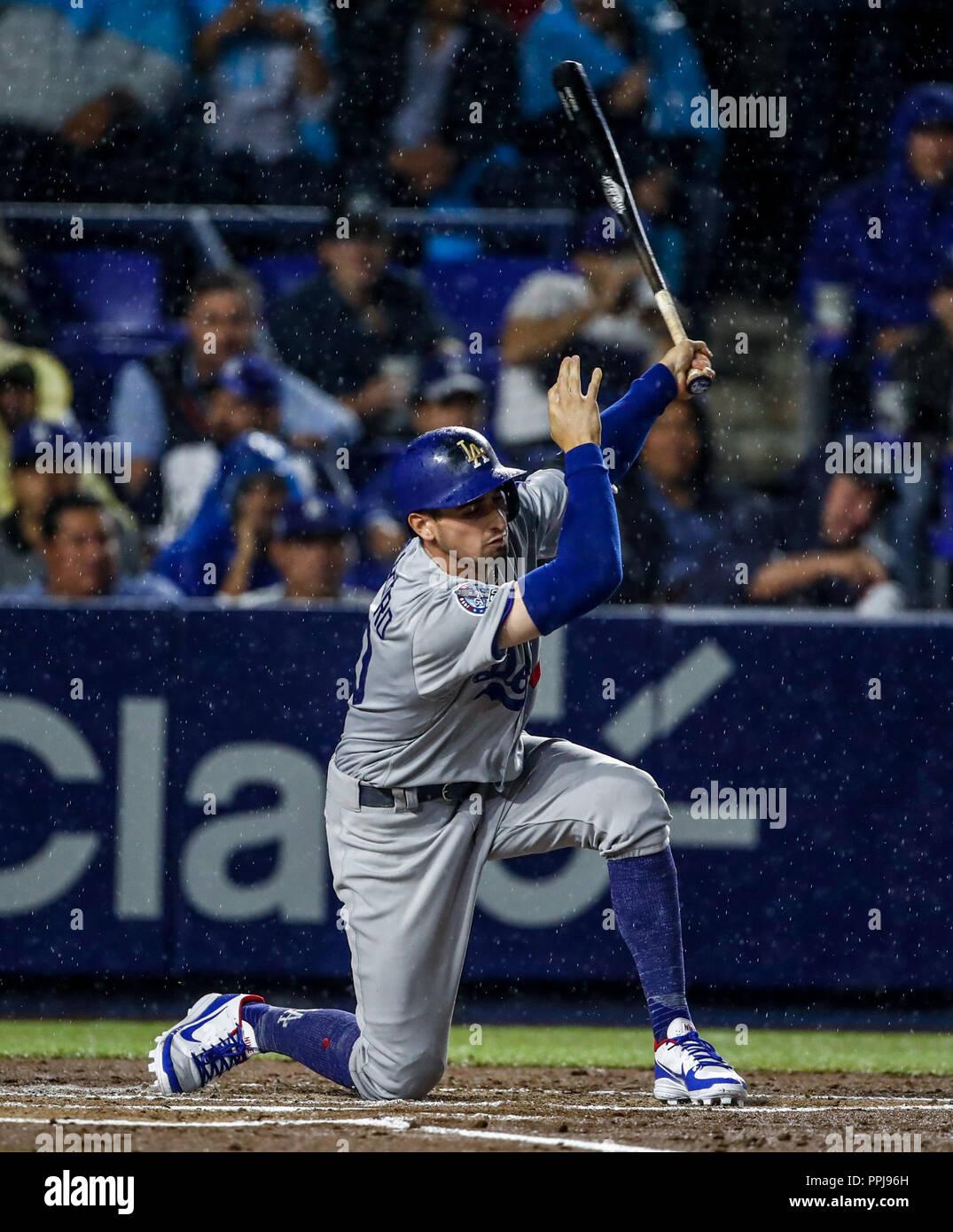 Tim Locastro de los dodgers, durante el partido de beisbol de los Dodgers de Los Angeles contra Padres de San Diego, durante el primer juego de la ser - Stock Image