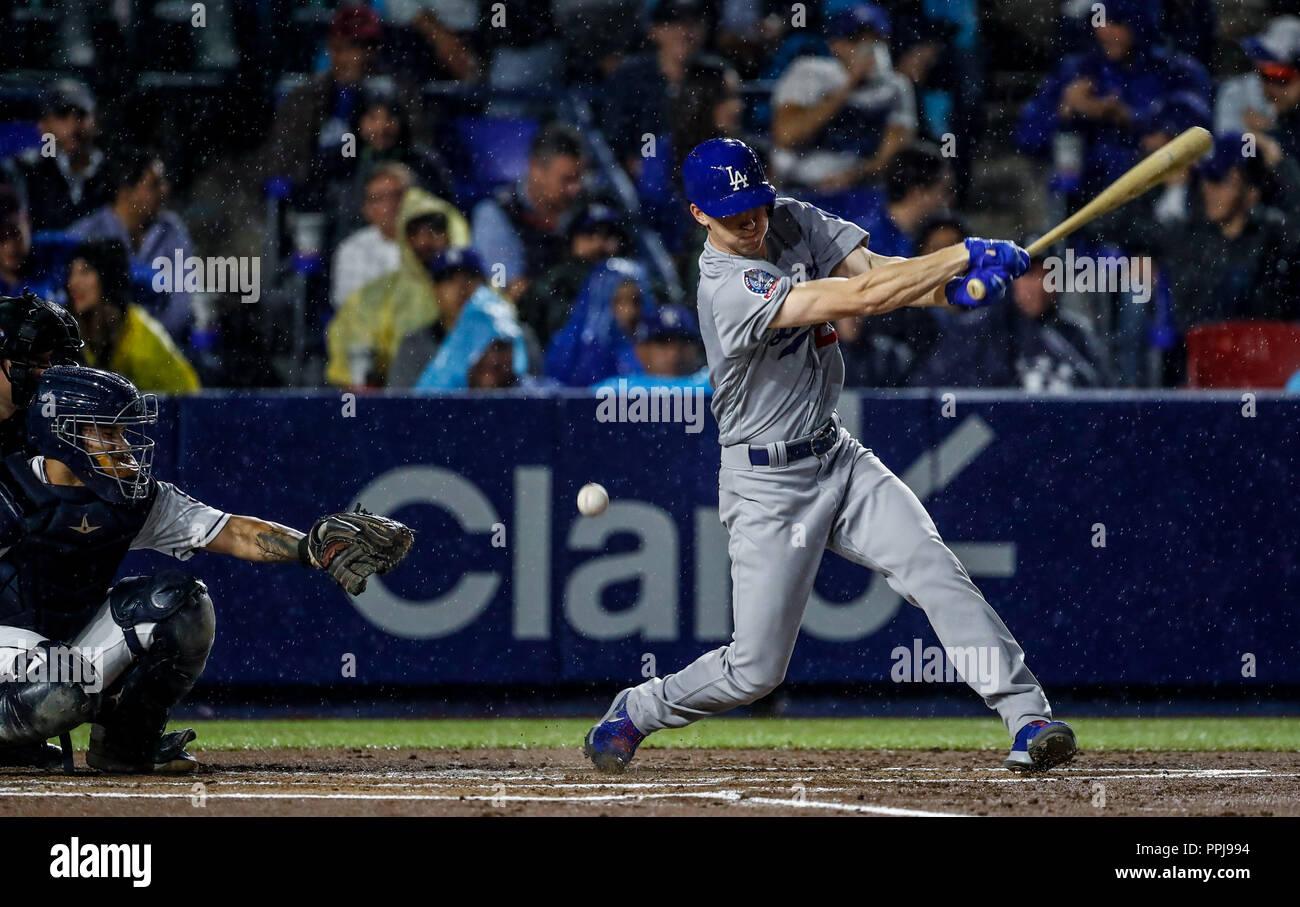 Walker Buehler de los dodgers, durante el partido de beisbol de los Dodgers de Los Angeles contra Padres de San Diego, durante el primer juego de la s - Stock Image