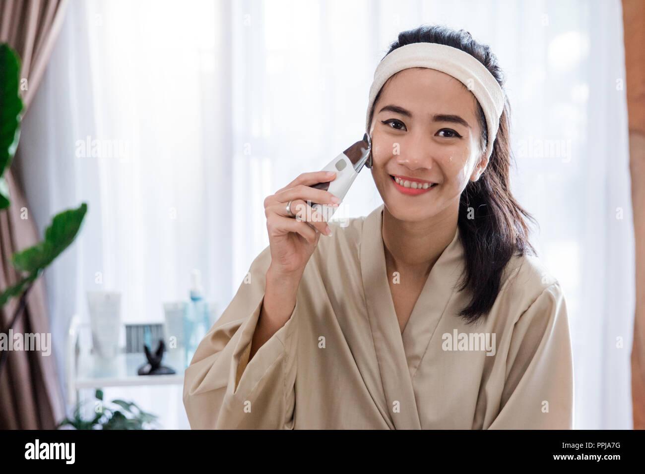 cosmetic galvanic beauty treatment  - Stock Image