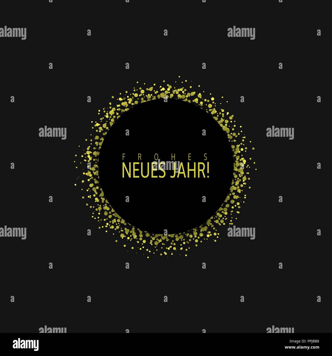 german new year label