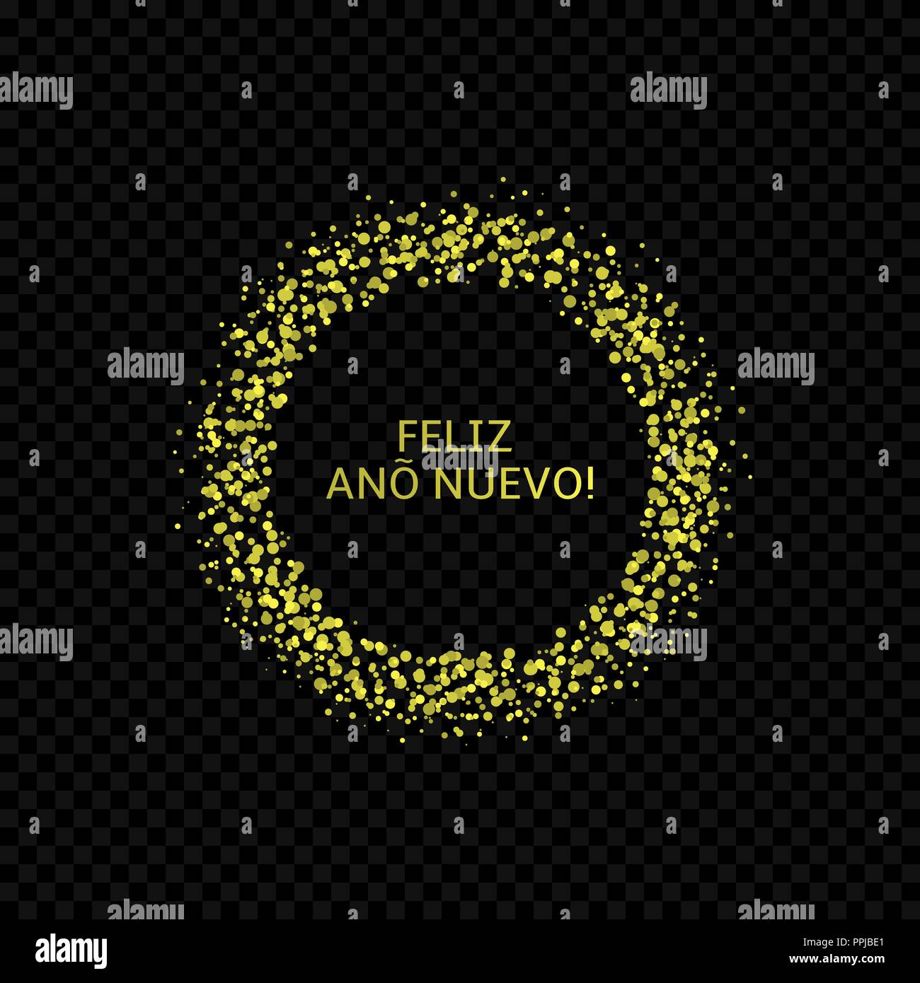 Spanish New Year label - Stock Image