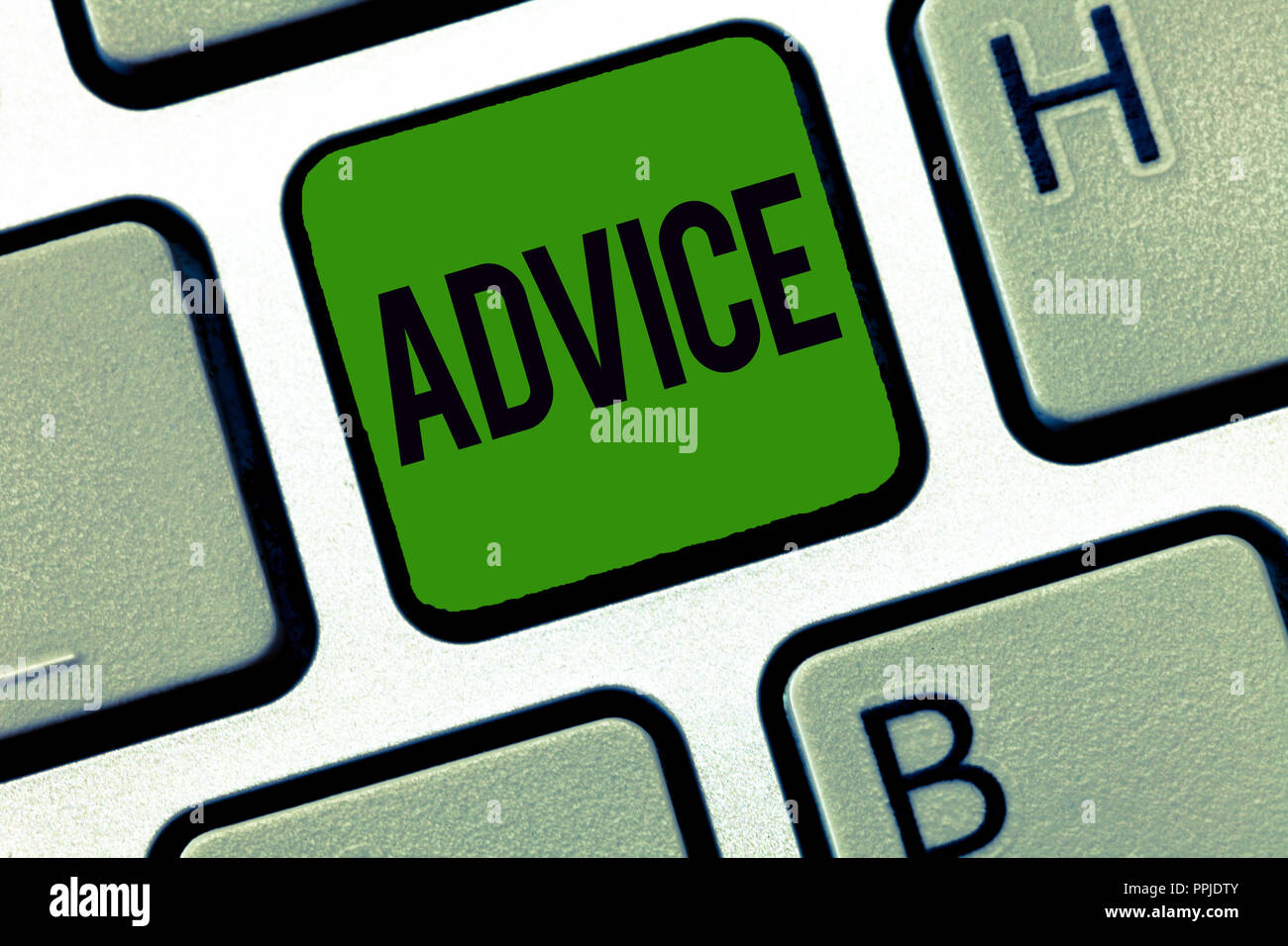 Word writing text Advice. Business concept for guidance or recommendations offered with regard prudent action. - Stock Image