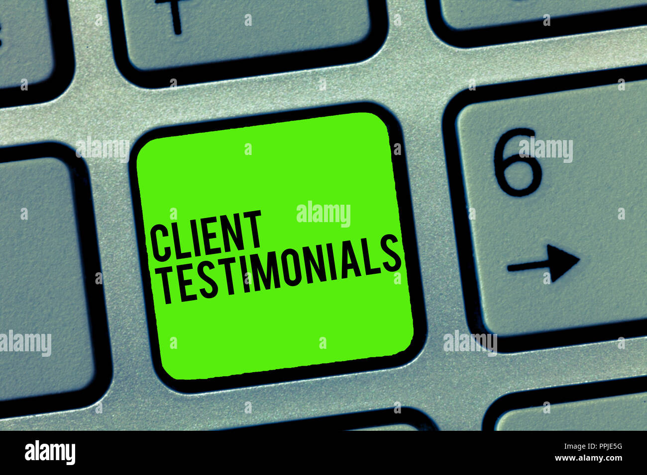Text sign showing Client Testimonials  Conceptual photo
