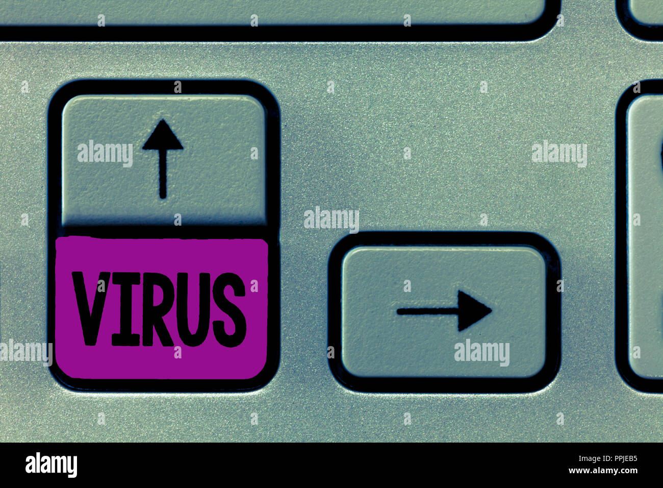 Word writing text Virus. Business concept for infective agent that consists nucleic acid molecule in protein coat. - Stock Image