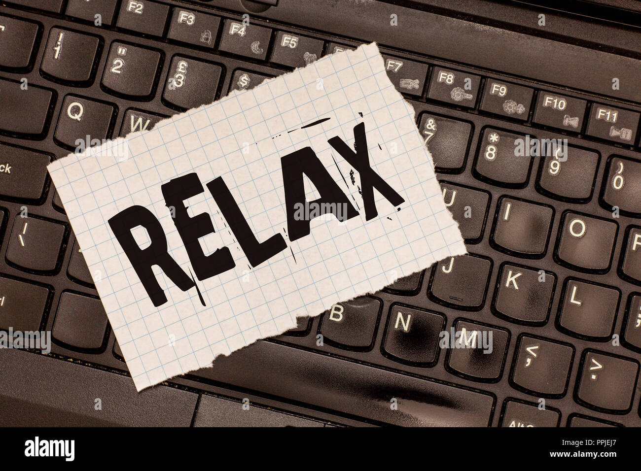 Word writing text Relax. Business concept for make or become less tense anxious calming down no restrictions. - Stock Image