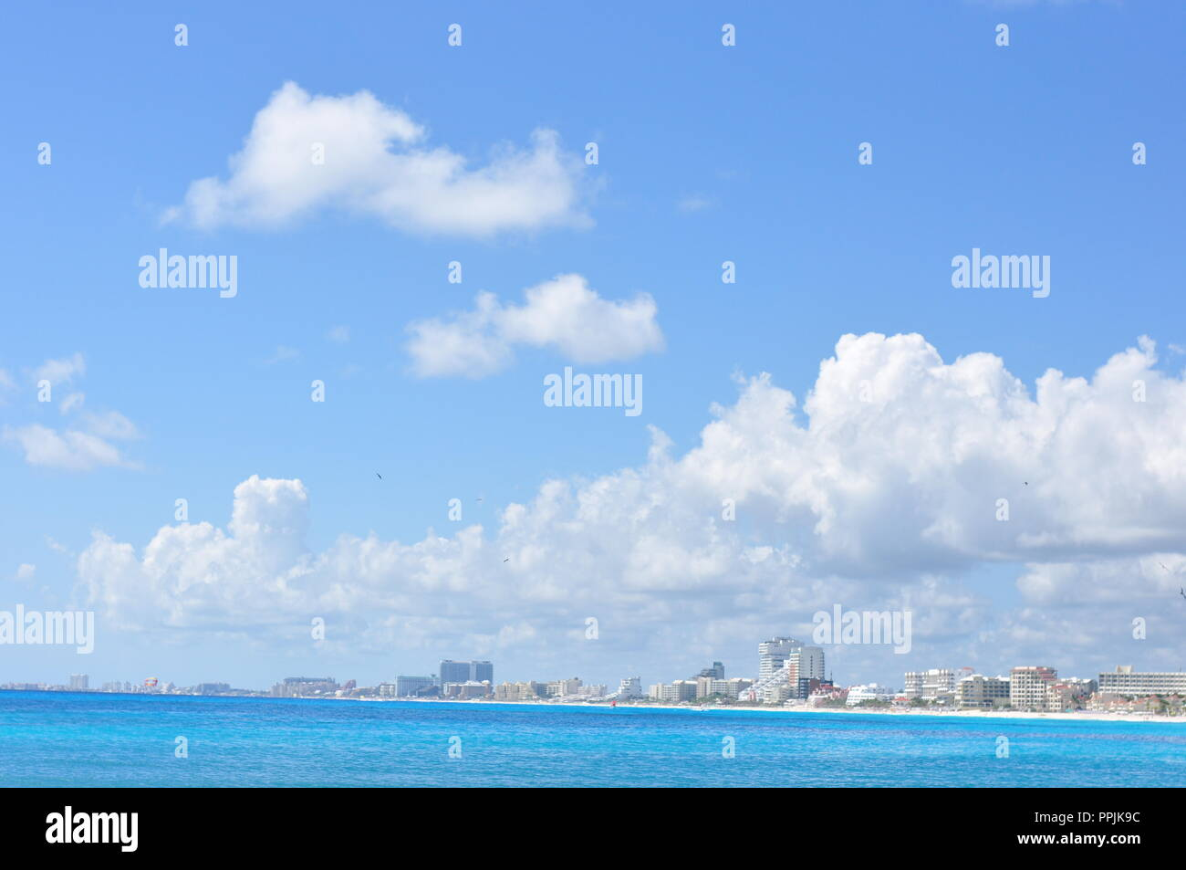 Mexican view, Zona hotelera, Cancun Stock Photo