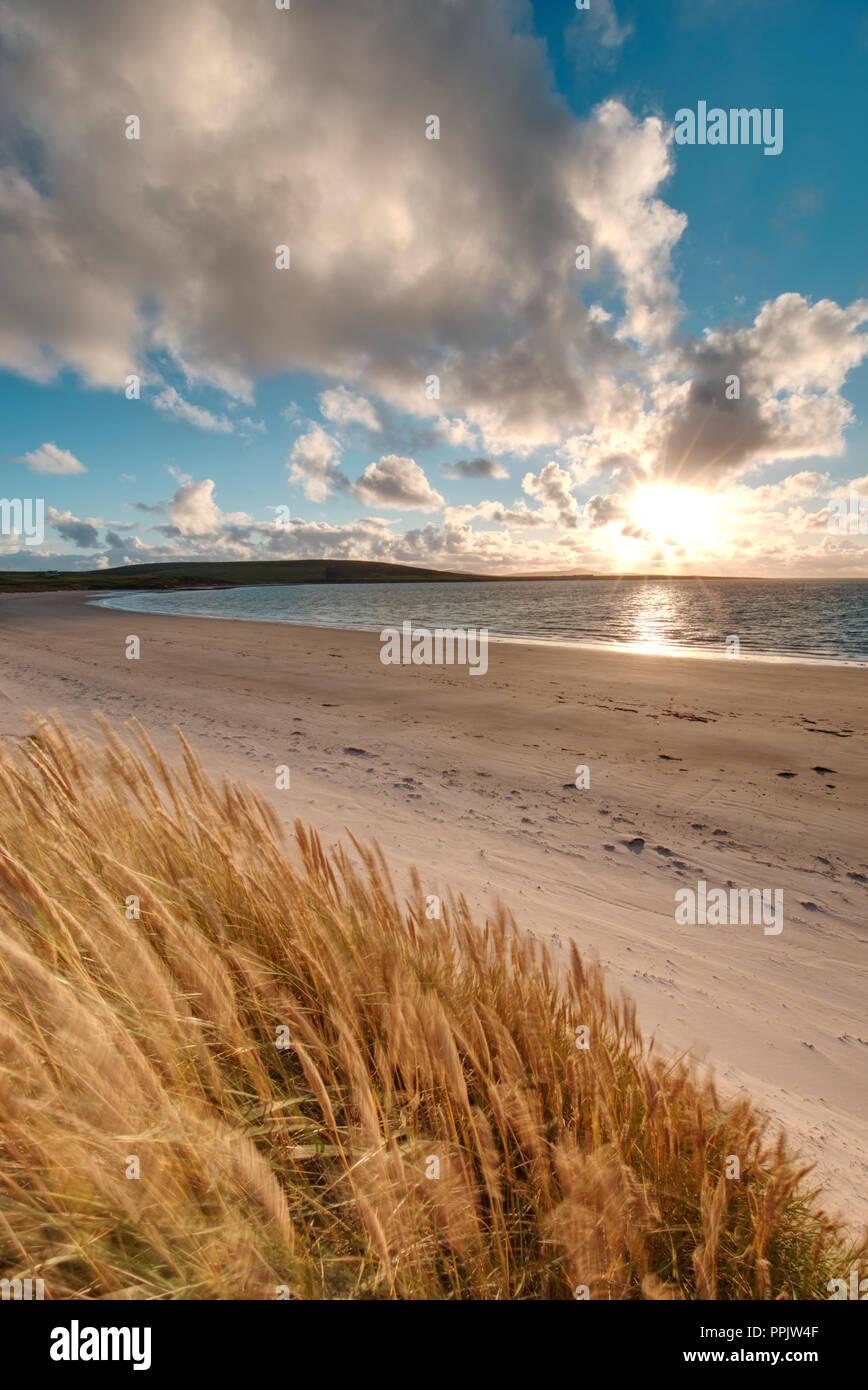 Sands of Doomy, Isle of Eday Stock Photo