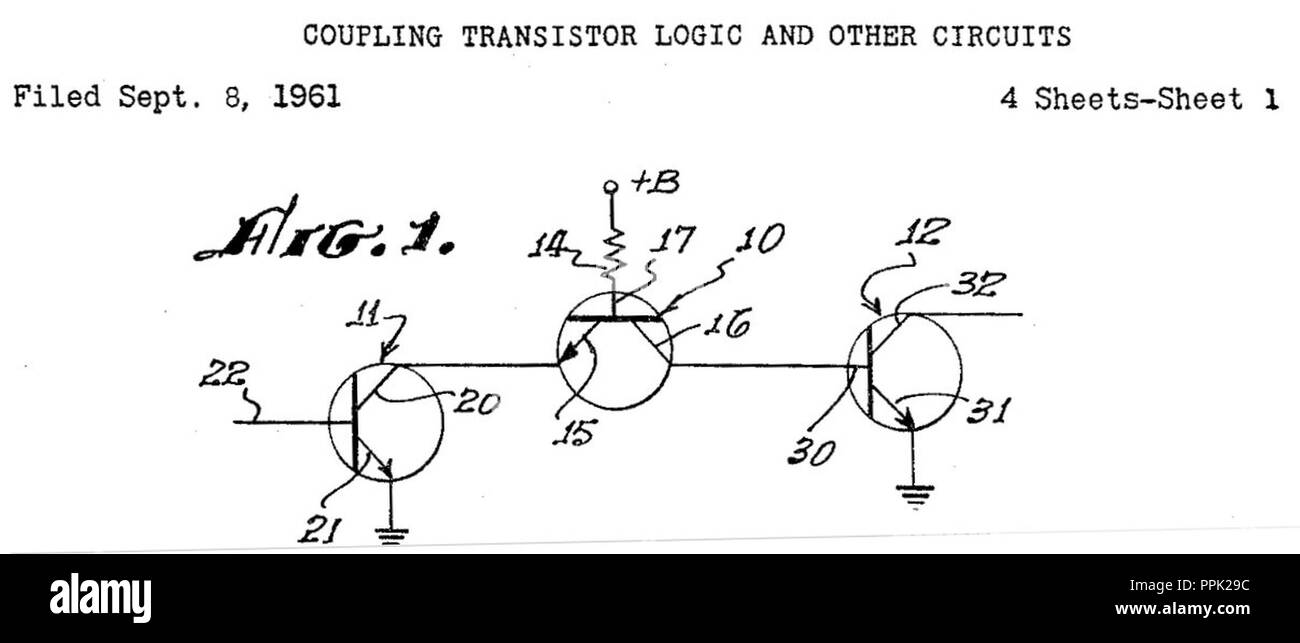 Transistor Logic Stock Photos This Is A Ttl Or Gate Circuit Using Blui Circuits Patent Image