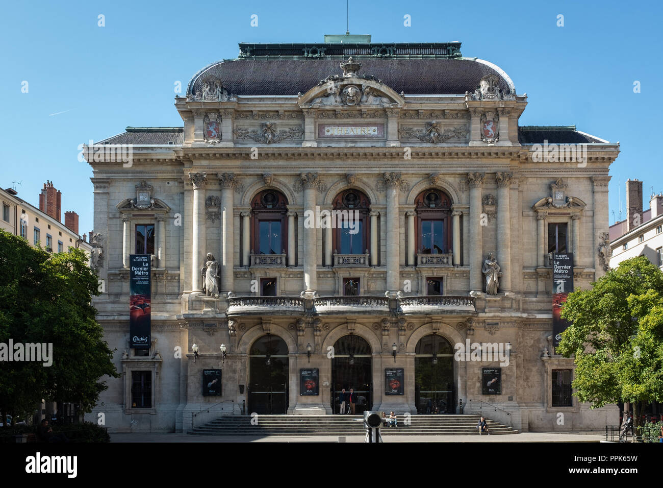 Front facade of the Theater Célestins- Lyon - Stock Image