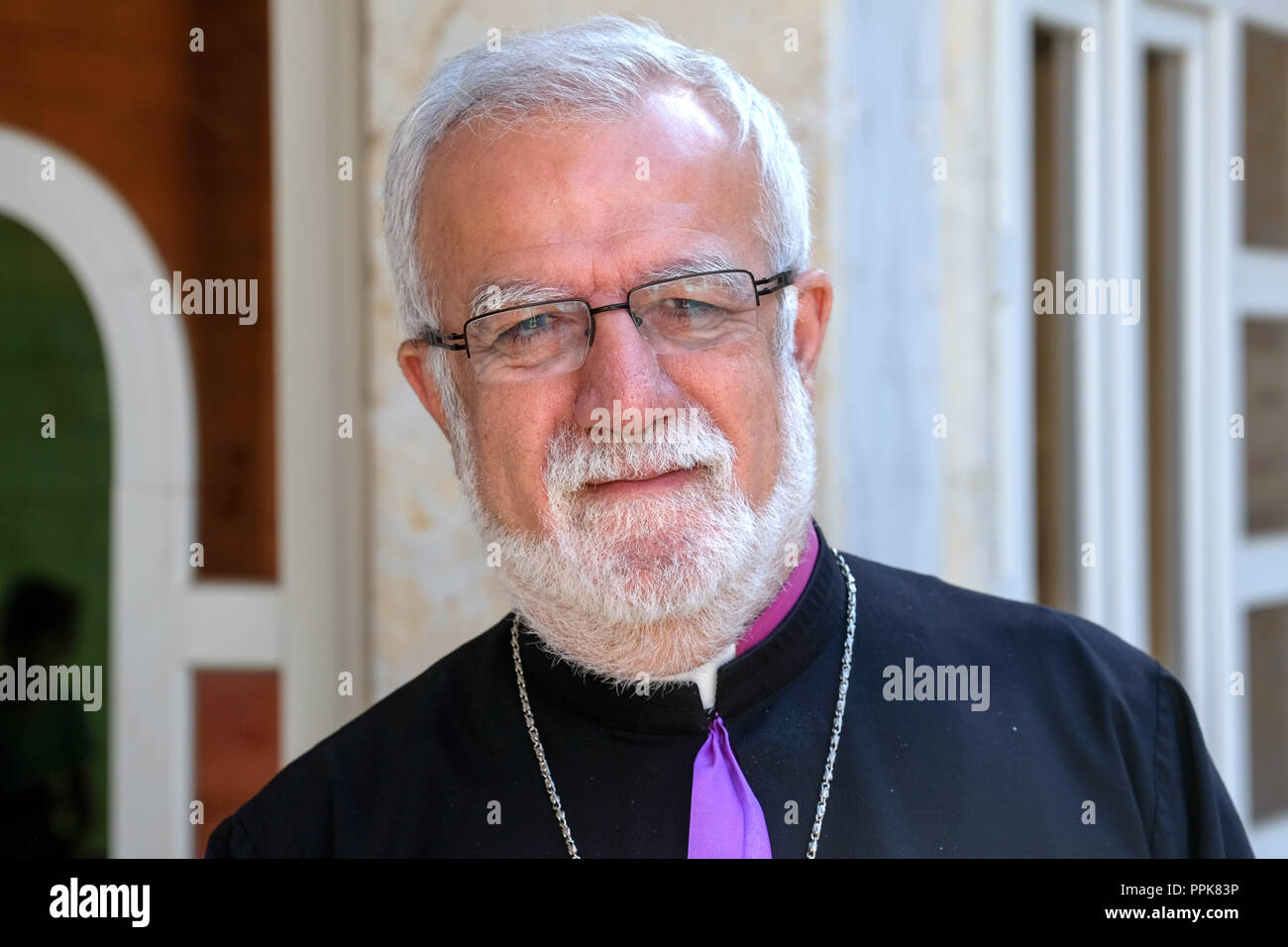 Fr. Emanuel Youkhana, Director of CAPNI (Christian Aid Program Northern Iraq) in Dohuk, Kurdistan Region, Northern Irak - Stock Image