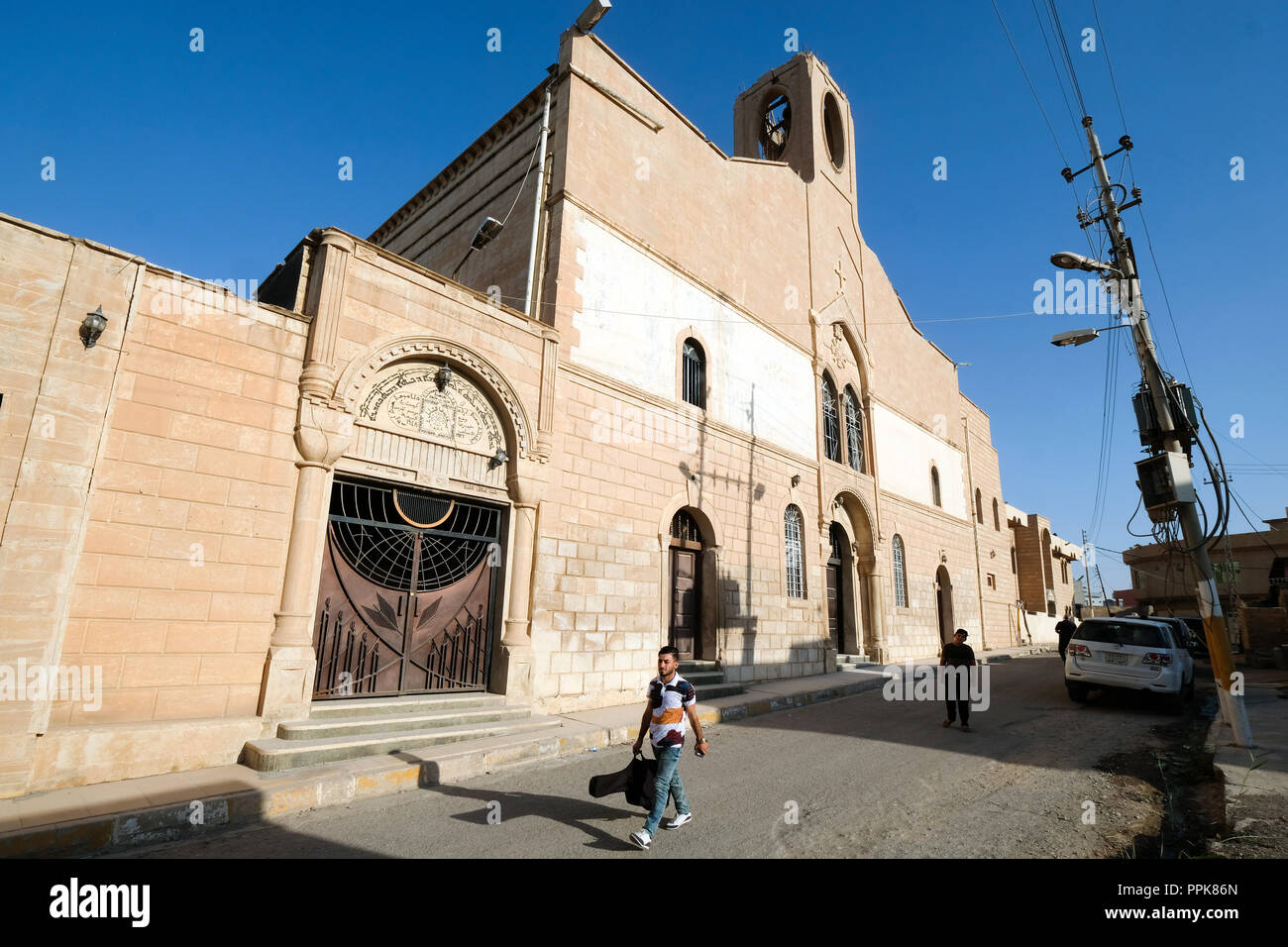 The Immaculate Conception Church of Quaraqosh (Hamdaniya), Iraq, Autonomous Kurdish Region - Assyrisch-Orthodoxe Kathedrale von Quaraqosh, Irak, Autonome Kurdische Region - Stock Image