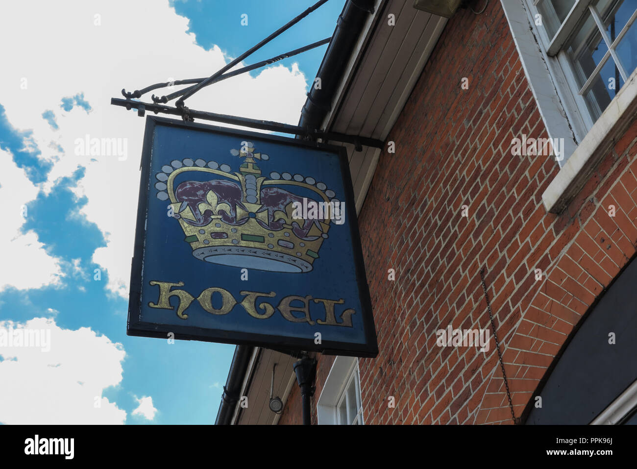 Crown Hotel, High Street, Amersham, Buckinghamshire - Stock Image