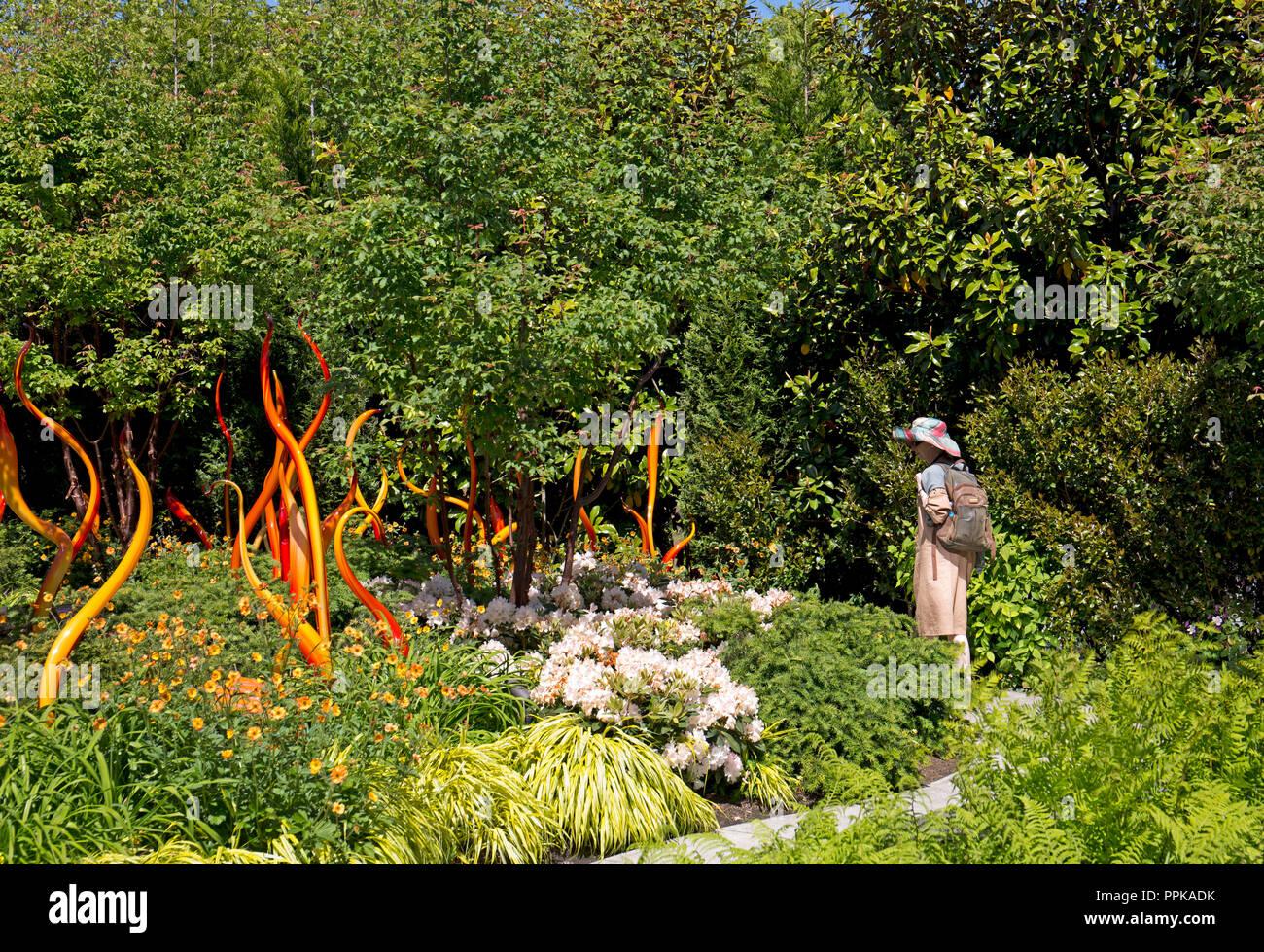 Dale Chihuly, hand blown glass, Seattle, Washington State, USA - Stock Image