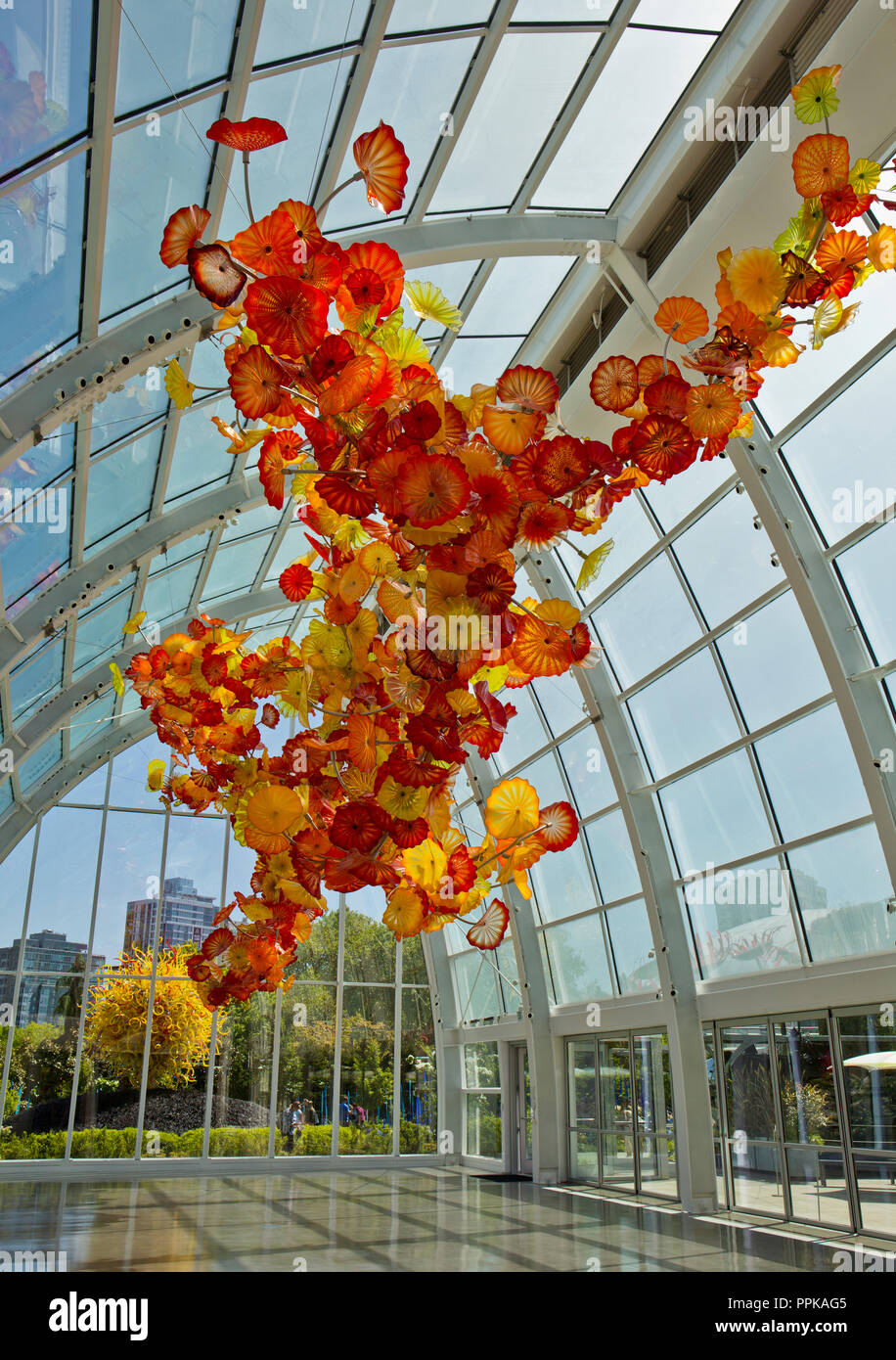 Dale Chihuly, hand blown glass, Seattle, Washington State, USA - Stock Image