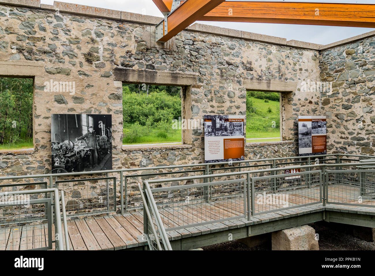 Leitch Colliery exhibit, Crowsnest Pass, Alberta, Canada - Stock Image
