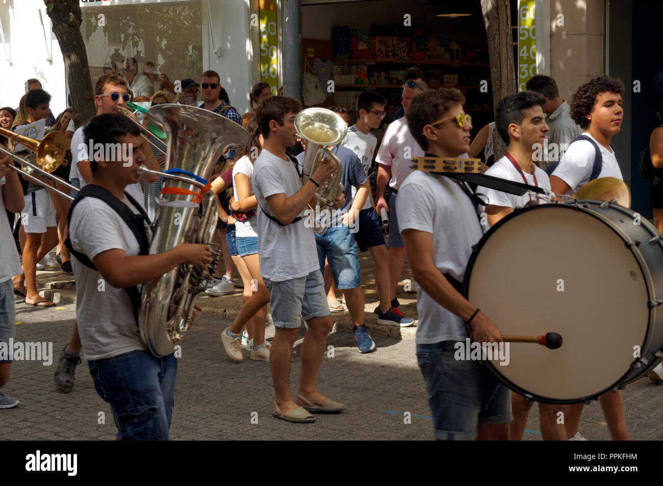 Youth Marching Band Stock Photos Images Mao Baby Music Cellular Phone Mare De Du Grcia Festival Mahon Menorca
