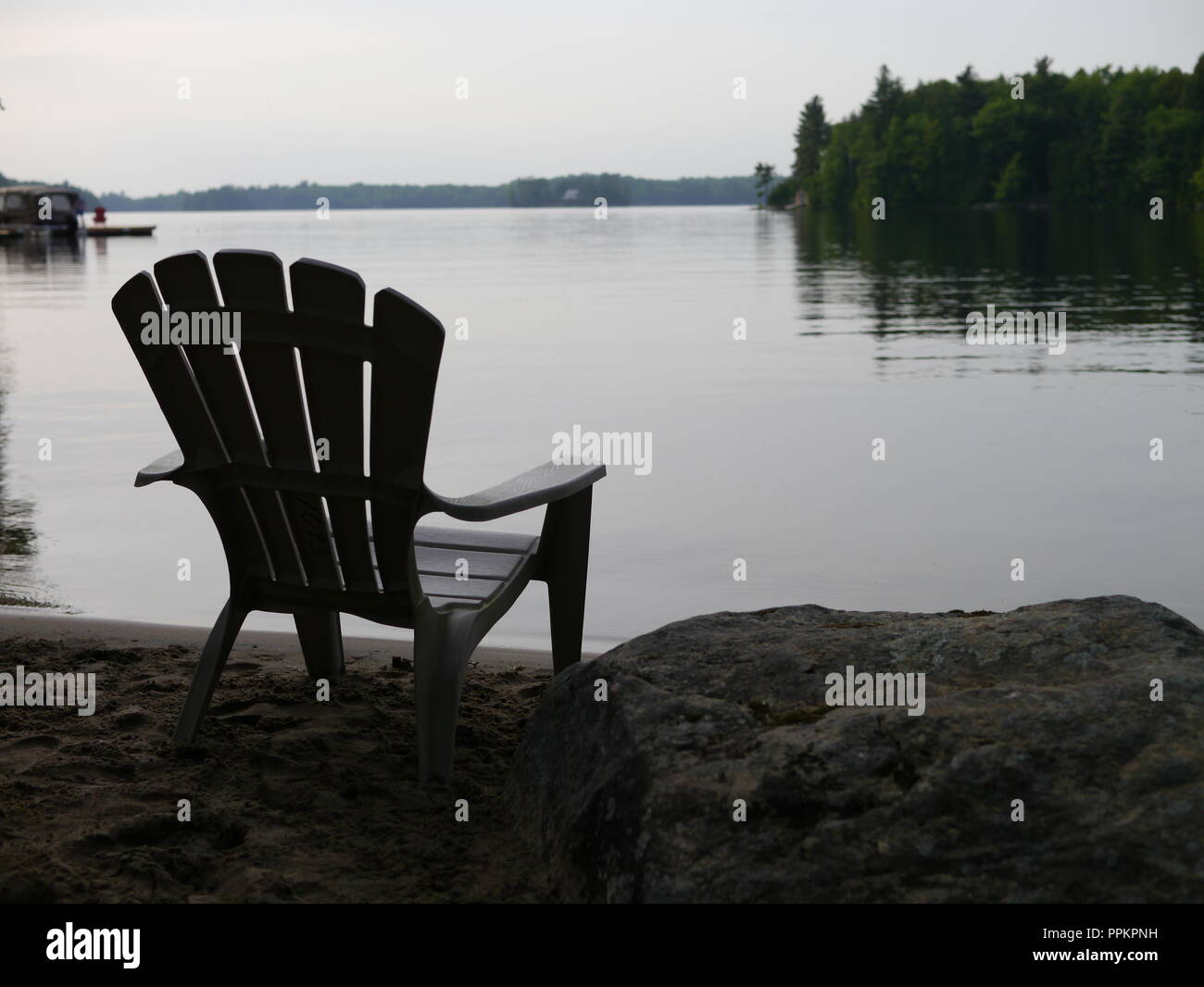 Solitude in Cottage Country - Stock Image