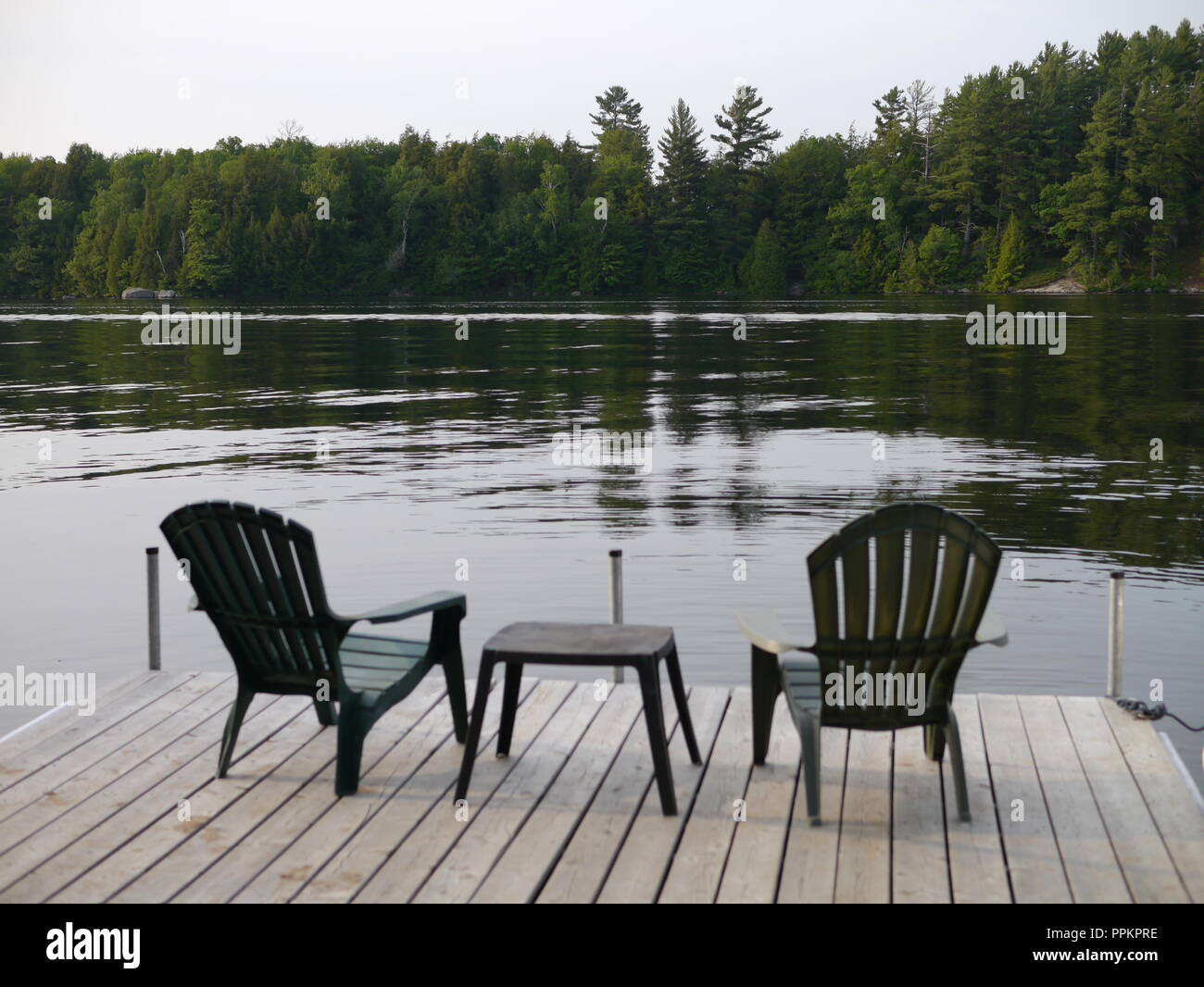 Private Dock for two - Stock Image