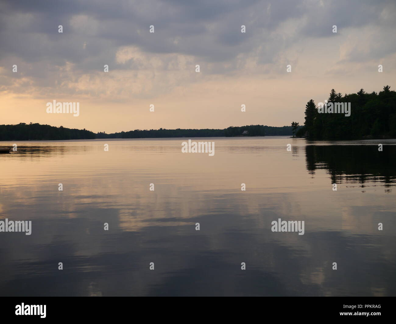 Solitude on the Lake - Stock Image
