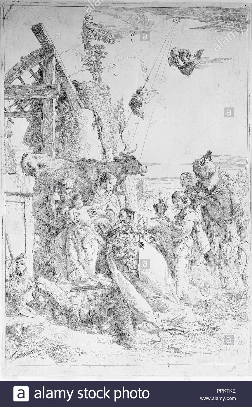 Artist: Giovanni Battista Tiepolo (Italian, Venice 1696-1770 Madrid).  Dimensions: 16 15/16 x 11 3/8 in. (43.1 x 28.9 cm). Date: ca. 1753 (?).