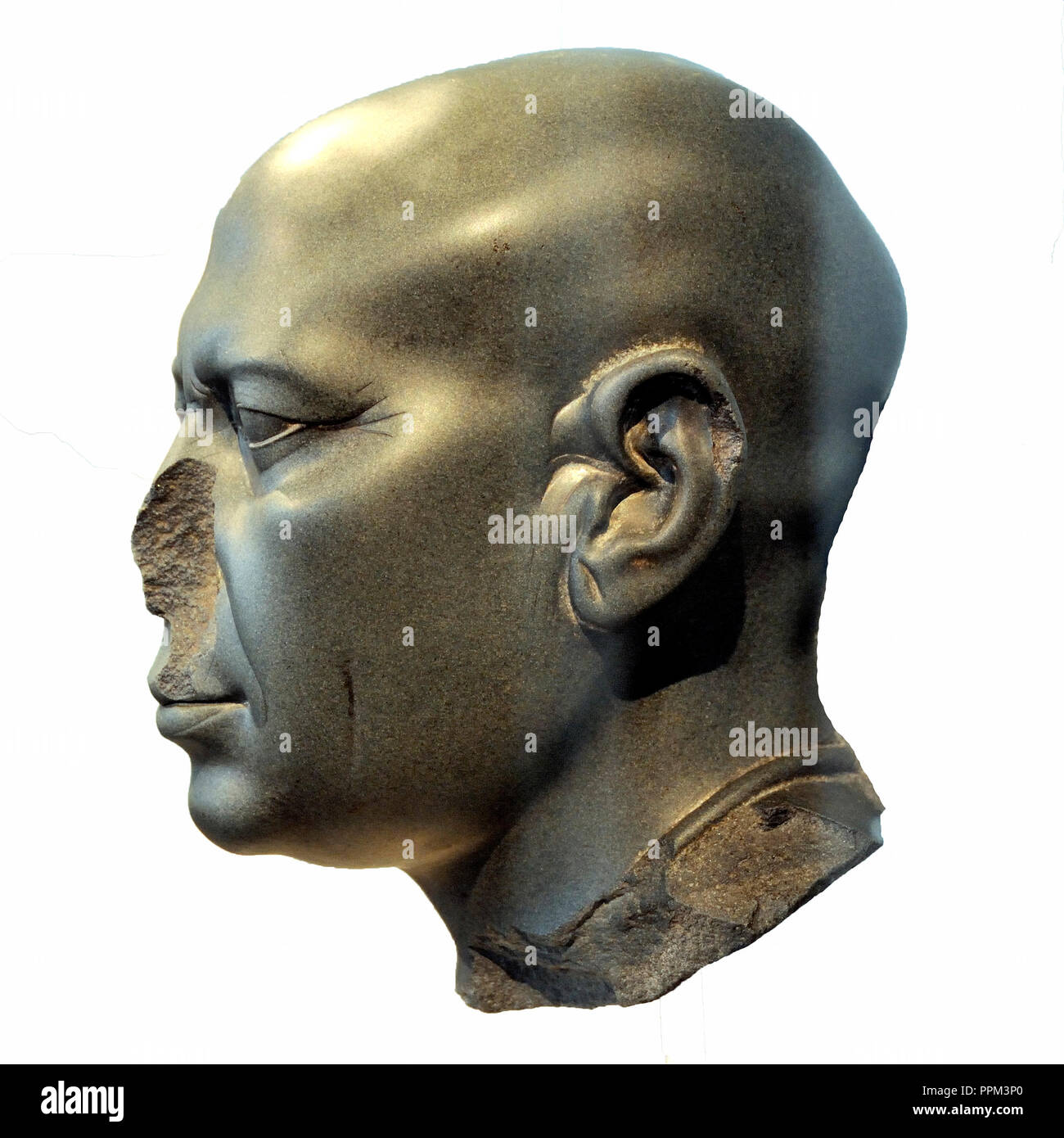 Kahotep bust, 2450 a.c. Altes Museum. Berlin, Germany - Stock Image