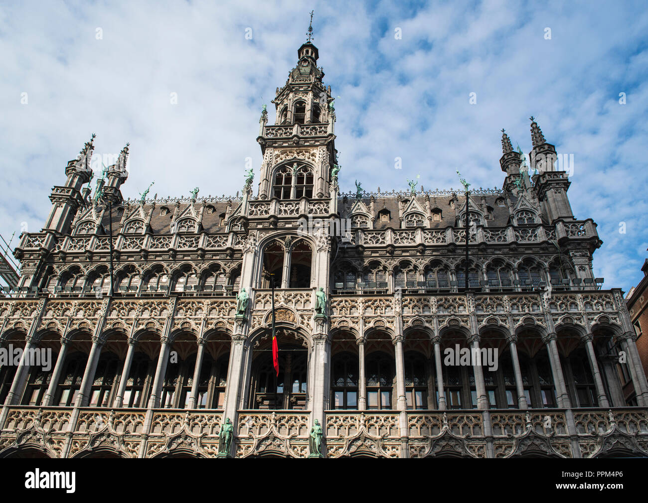 Museum of the City of Brussels is a museum on the Grand Place square in Brussels, Belgium. It is dedicated to the history and folklore. - Stock Image