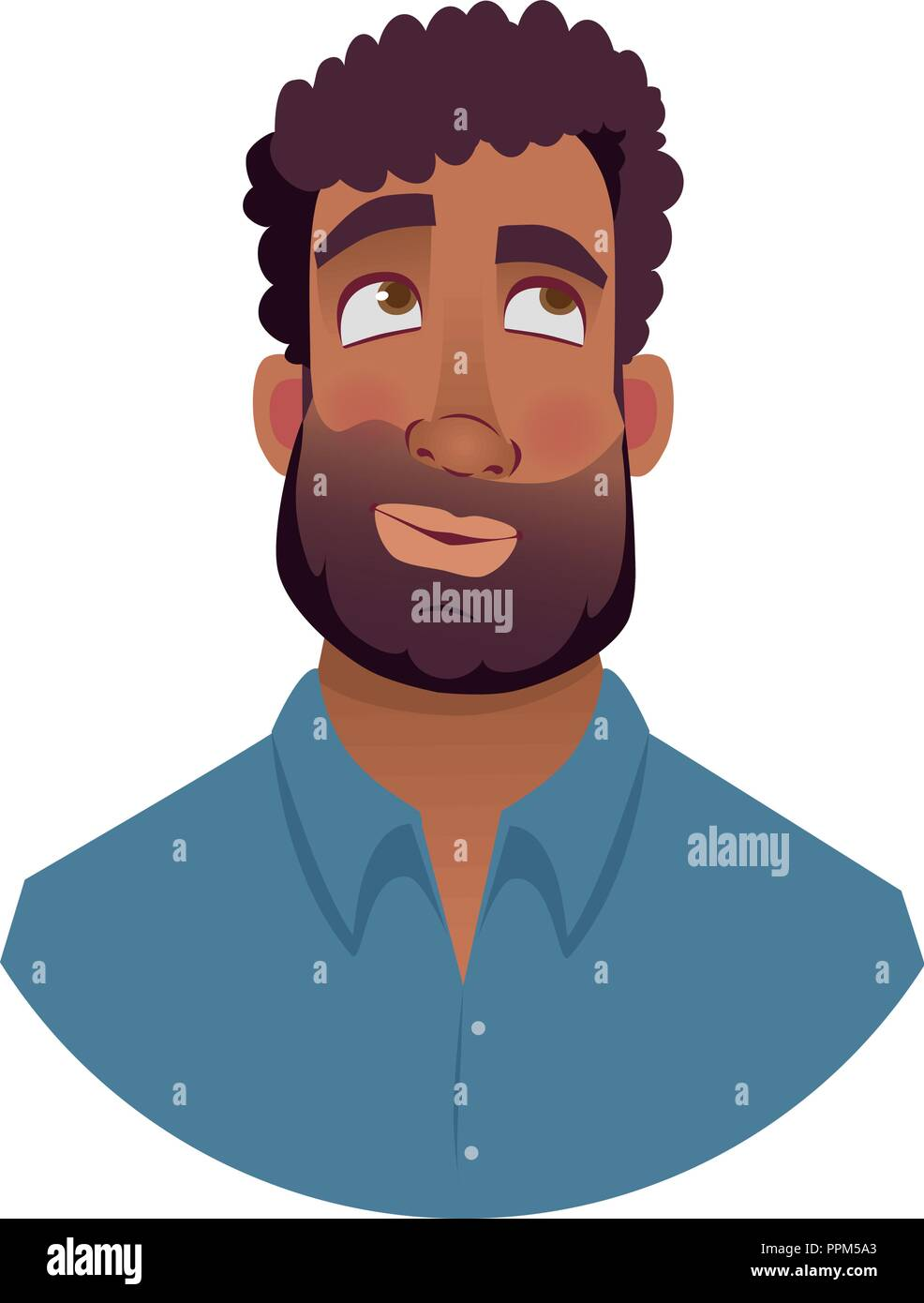 Thinking Thought Question Stock Vector Images Alamy Ppm Wiring Diagram For Portrait Of African Man Illustrations Black Mans Emotional Face