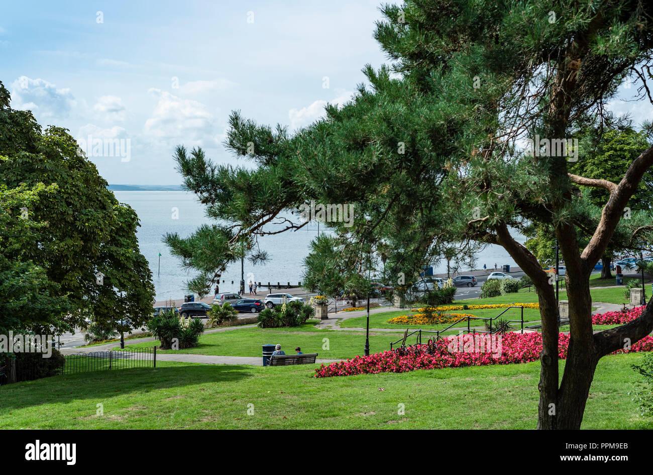 Cliff gardens Southend on sea council park. Seaside municipal garden. Stock Photo