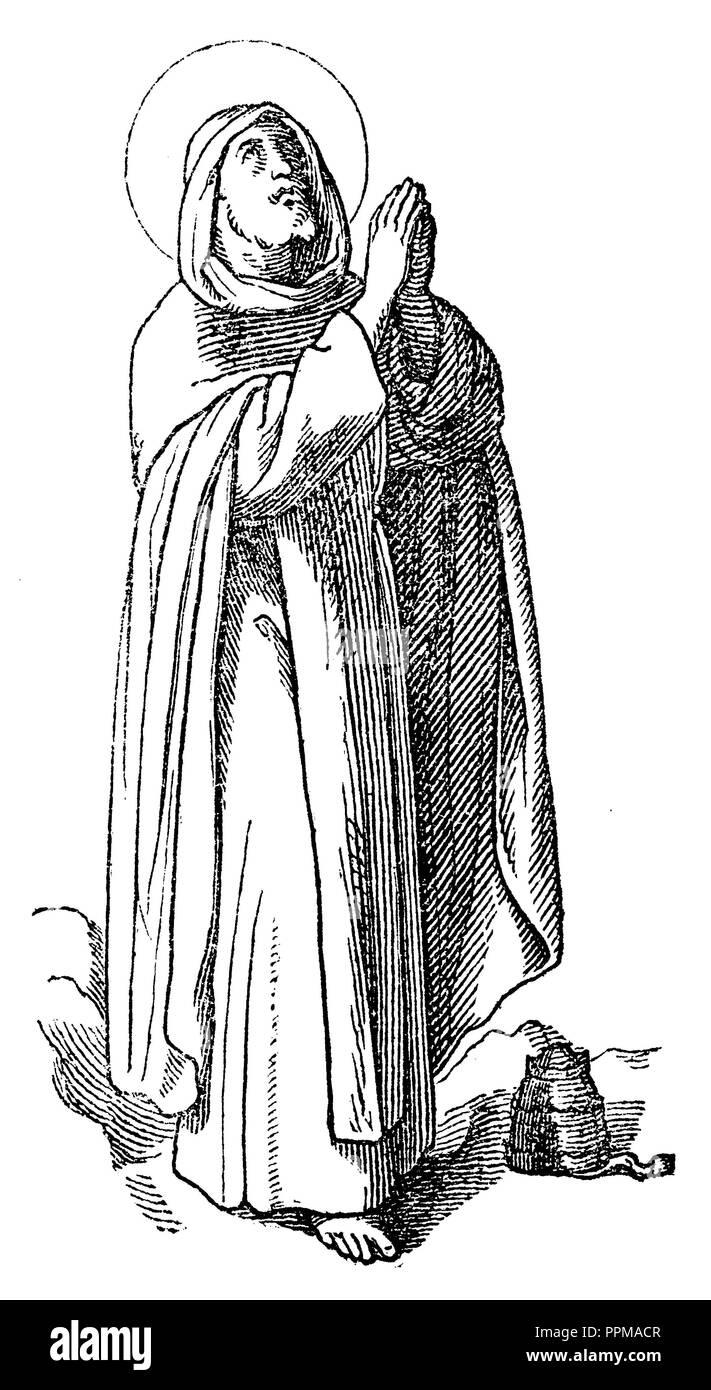 Celestine V (originally Pietro da Morrone, Petrus de Murrone or Pietro Angelari, c. 1209 / 1210-1296), hermit, founder of the Cölestin Order and from July to December 1294 Pope, - Stock Image