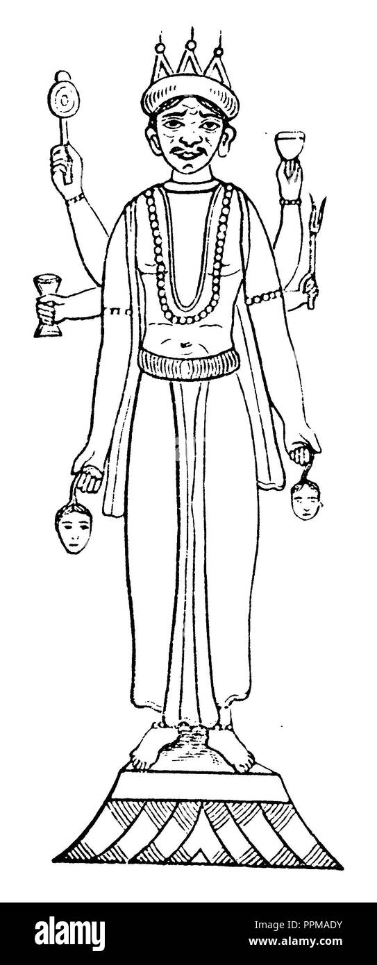 Shiva,   1881 - Stock Image
