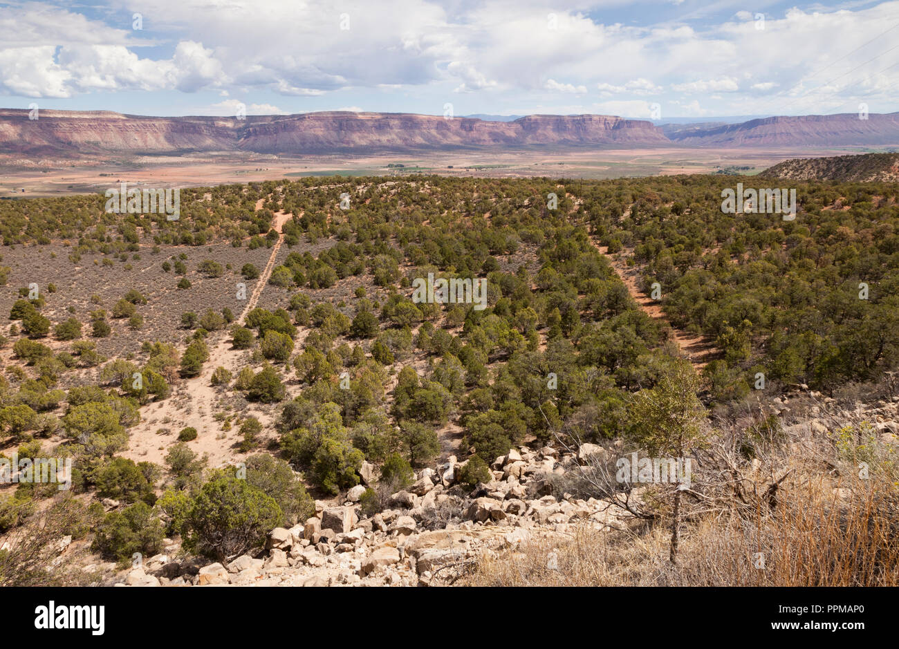 Paradox Valley in the south west of Colorado, USA Stock Photo
