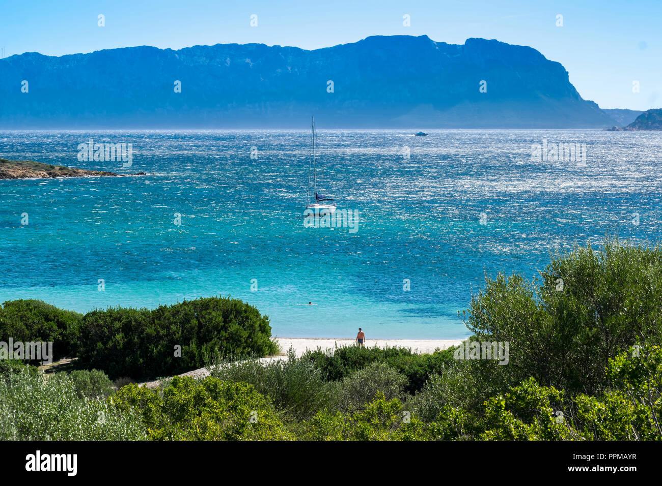 Cala Banana beach - Olbia - Sardinia - Italy - Stock Image
