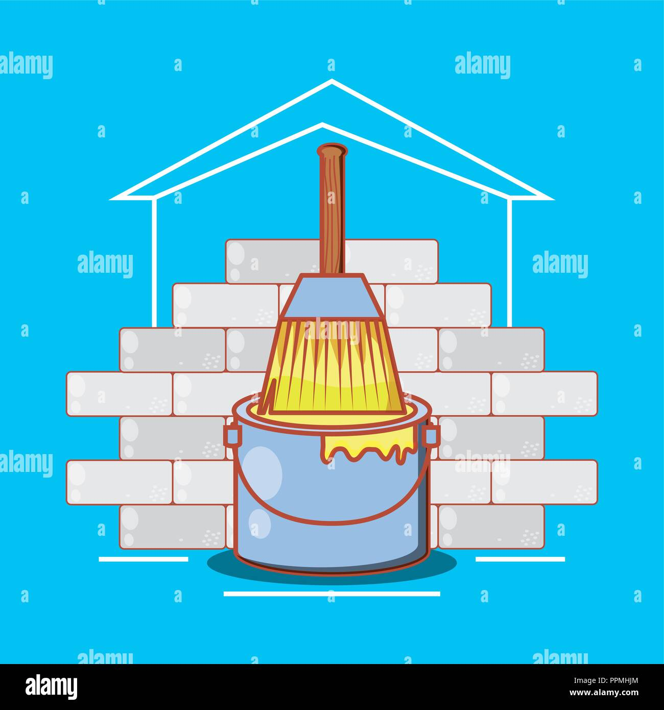 Home Renovation Stock Vector Images Alamy Ppm Wiring Diagram For Wall With Repair Icons Illustration Design