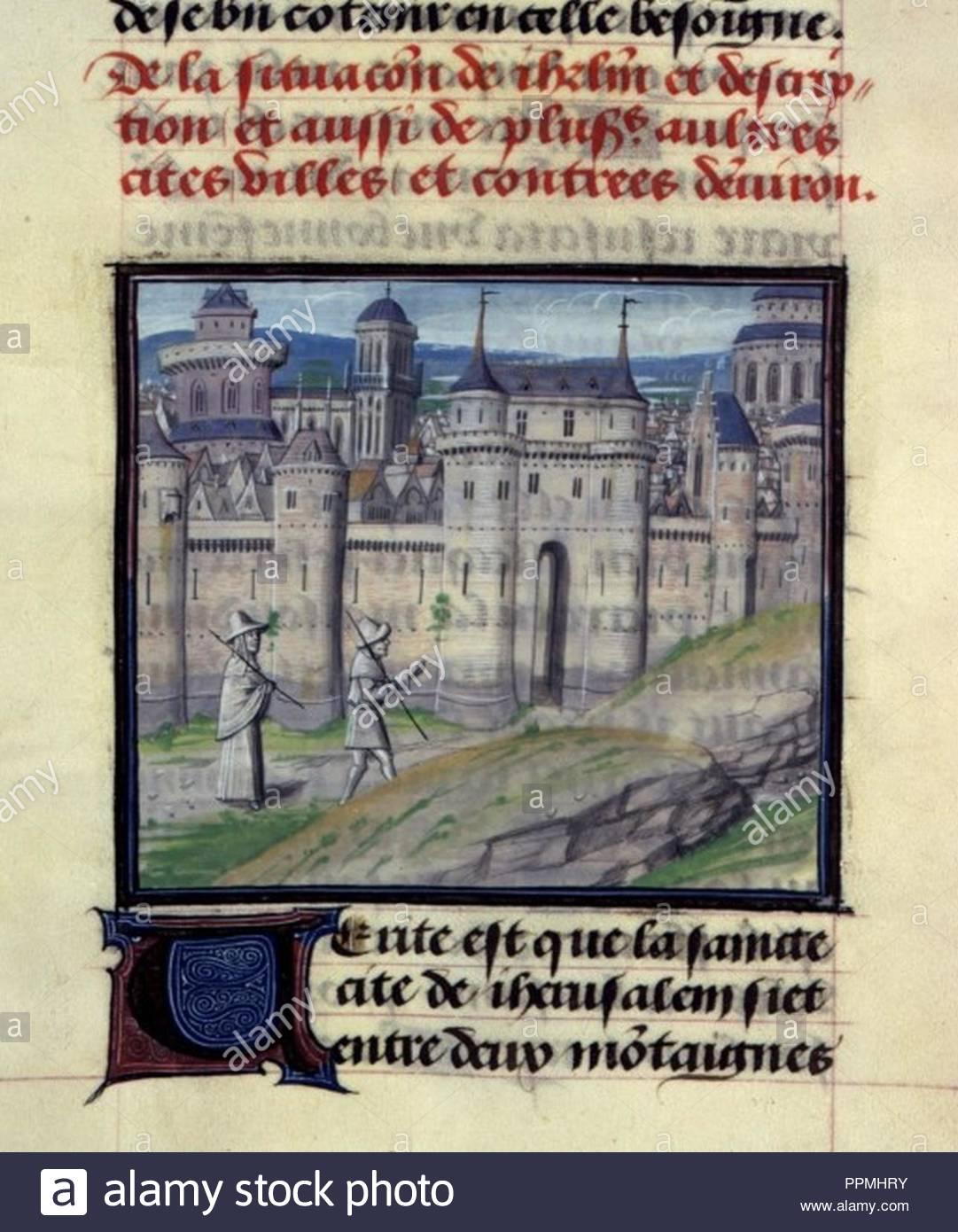 BNF, Mss fr 68, folio 98. Stock Photo