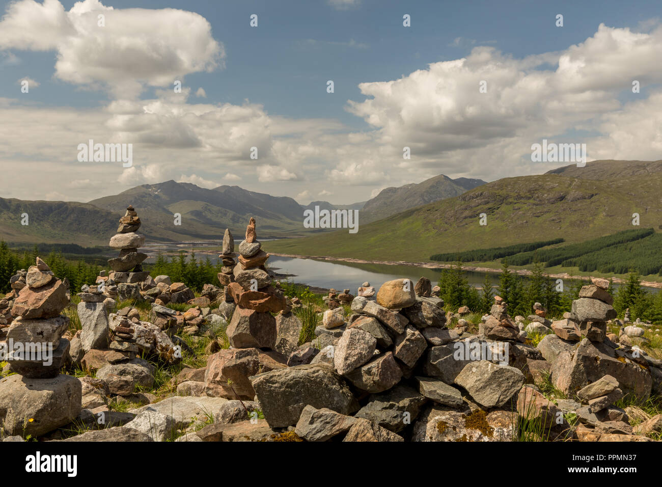 Fahrt durch die Highlands nach Fort William - Stock Image