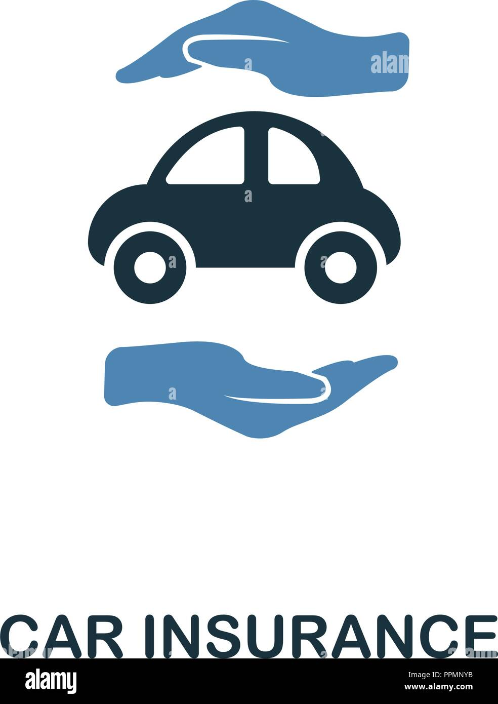 Car Insurance Icon In Two Color Design Line Style Icon From