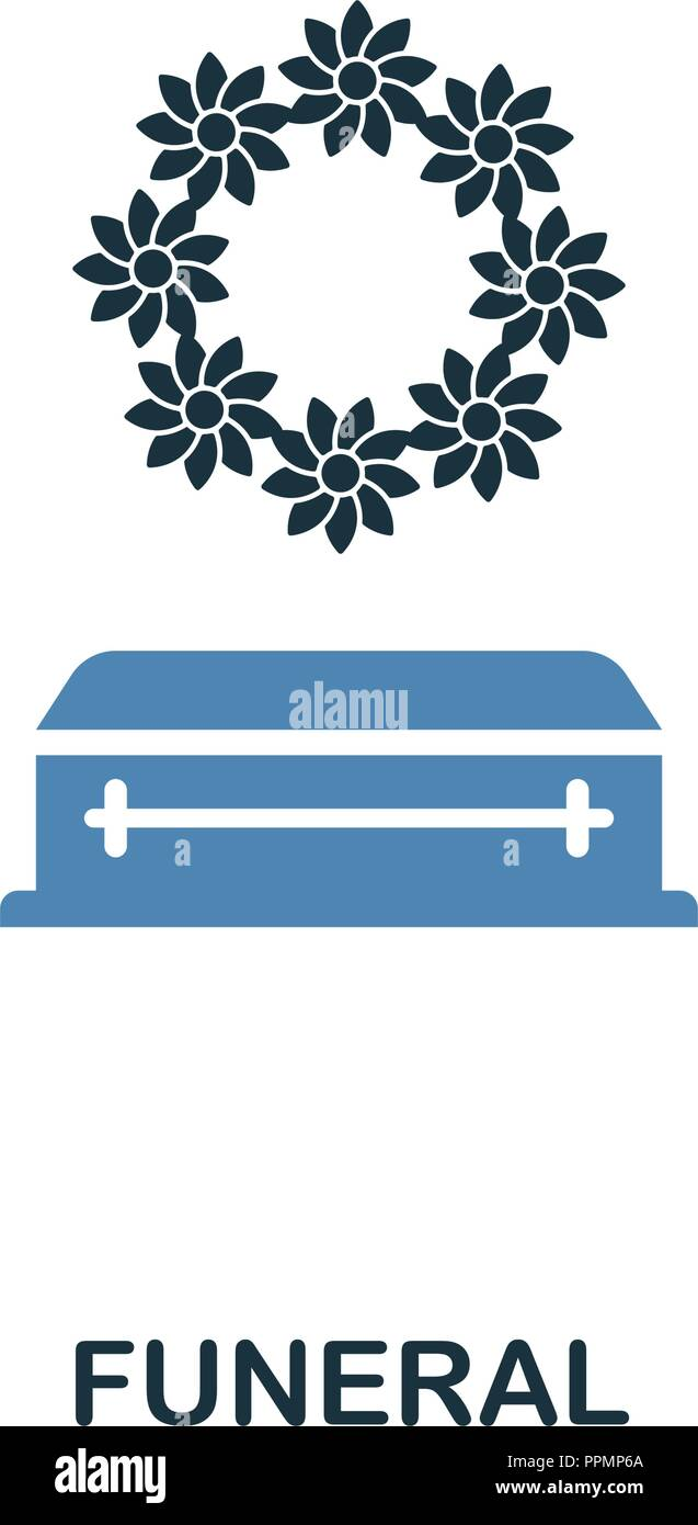 Funeral Icon In Two Color Design. Line Style Icon From ...
