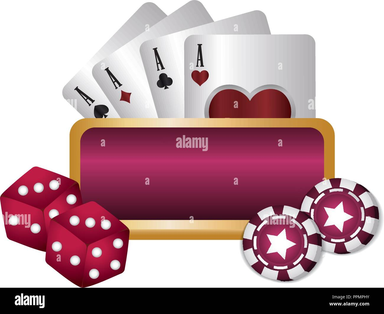 Betting Board Stock Photos Images Alamy Ppm Wiring Diagram For Vector Casino Poker Empty Dices Chips And Cards Illustration Image