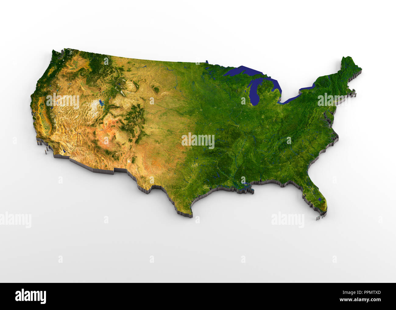 Elevation Map United States Stock Photos & Elevation Map ...