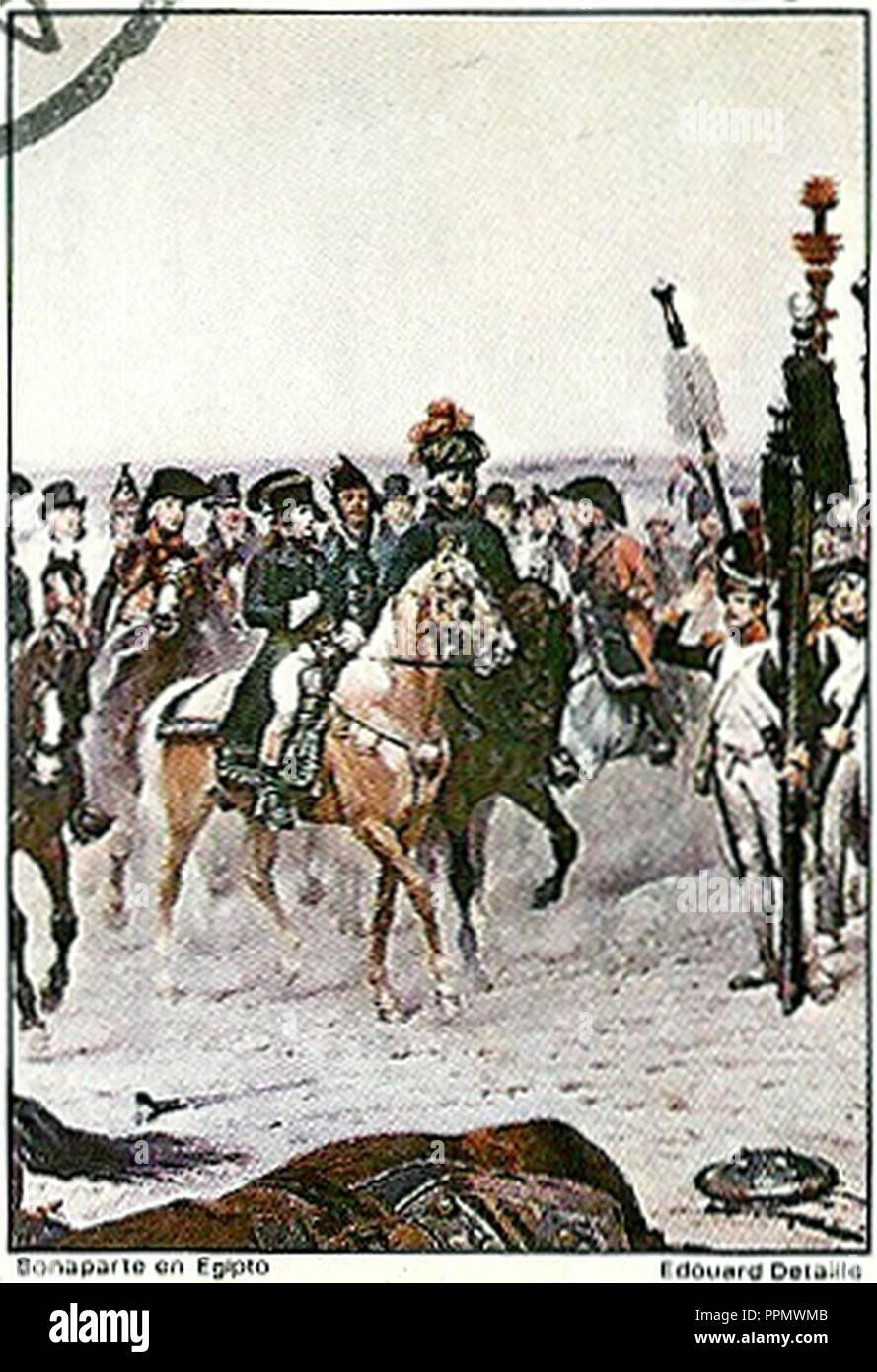 Bonaparte en Egipto. - Stock Image