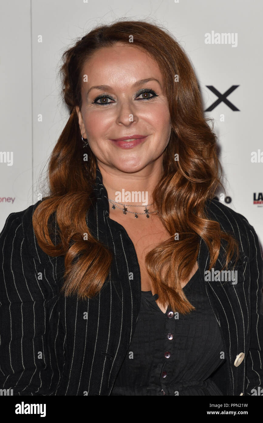 London, UK. 26th September, 2018. Julia Sawalha attends the Raindance Opening Gala 2018 held at Vue West End, Leicester Square on September 26, 2018 in London, England. Credit: Picture Capital/Alamy Live News Stock Photo
