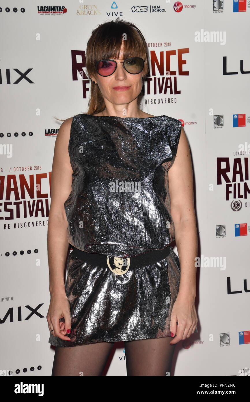 London, UK. 26th September, 2018. Director Marialy Rivas attends the Raindance Opening Gala 2018 held at Vue West End, Leicester Square on September 26, 2018 in London, England. Credit: Picture Capital/Alamy Live News Stock Photo