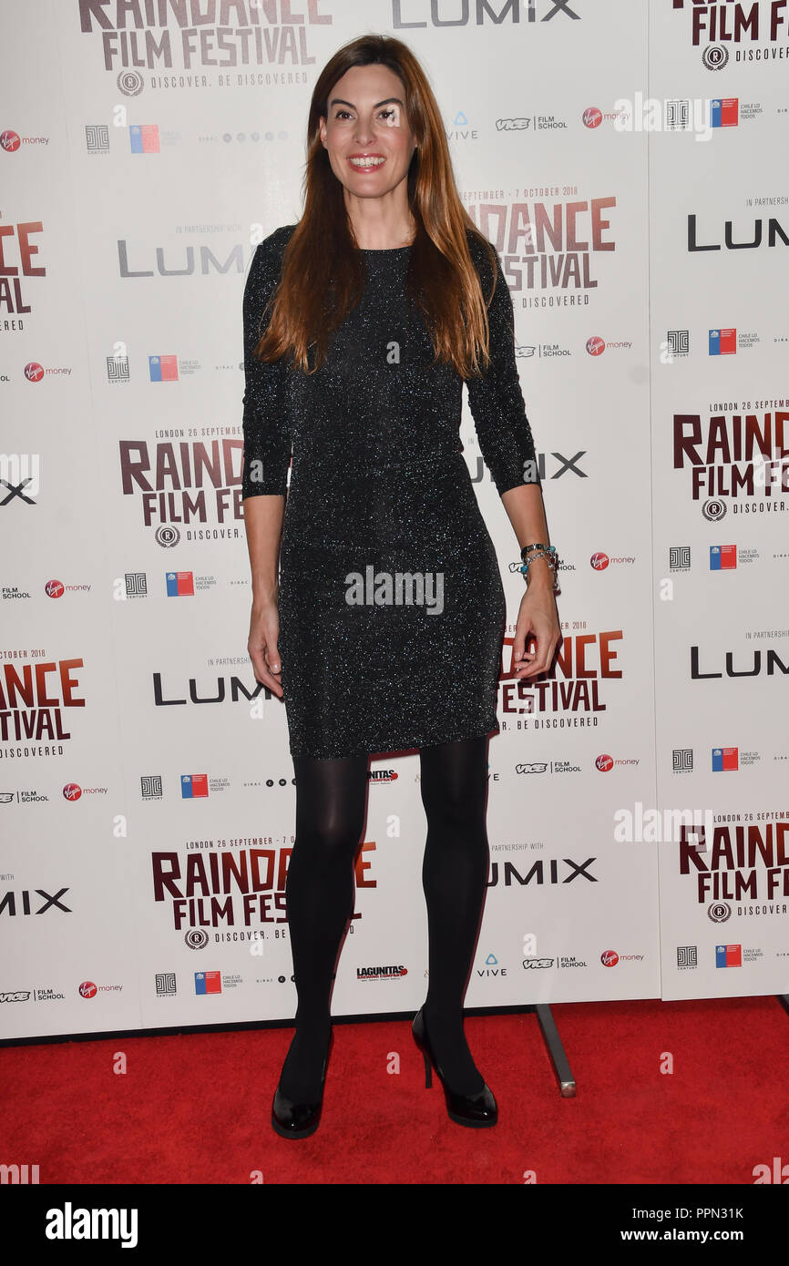 London, UK. 26th September, 2018. Catherine McQueen attends the Raindance Opening Gala 2018 held at Vue West End, Leicester Square on September 26, 2018 in London, England. Credit: Picture Capital/Alamy Live News Stock Photo