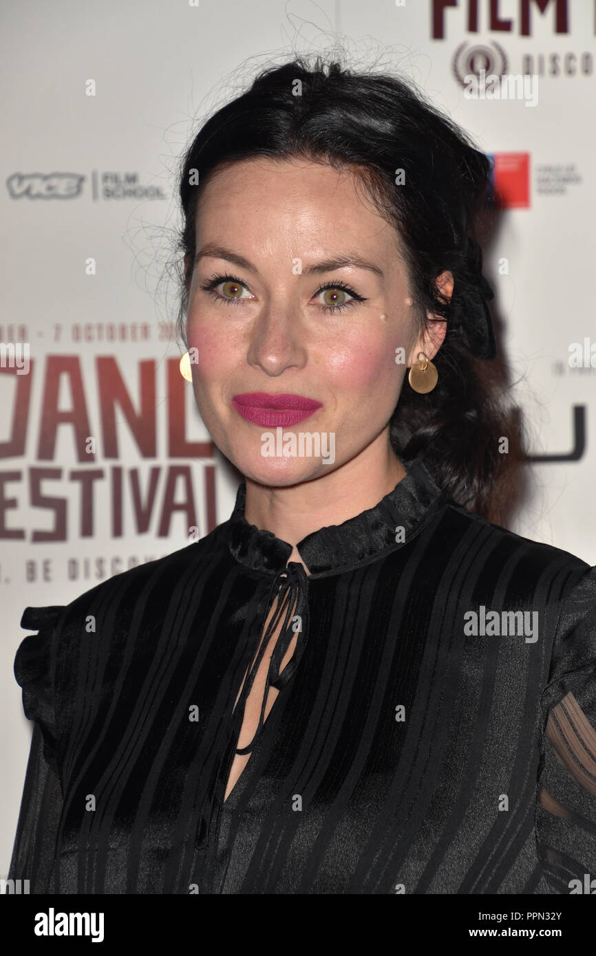 London, UK. 26th September, 2018. Mamie McCoy attends the Raindance Opening Gala 2018 held at Vue West End, Leicester Square on September 26, 2018 in London, England. Credit: Picture Capital/Alamy Live News Stock Photo