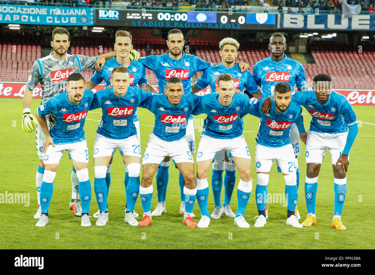 Napoli Team High Resolution Stock Photography And Images Alamy