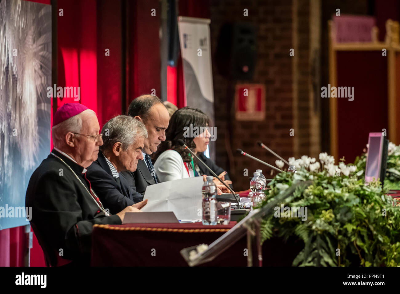 Italy Piedmont Turin 27th September 2018 - The MIBAC returns to the public the chapel of the Shroud of Guarino Guarini - Royal Theater Foyer del Toro -Press day - authority Credit: Realy Easy Star/Alamy Live News - Stock Image