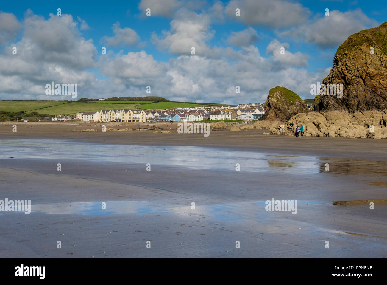 Broad Haven, Pembrokeshire, Wales - Stock Image