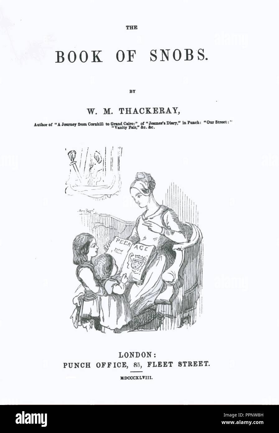 Book of Snobs-Première de couverture. - Stock Image